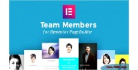 Members team for builder page elementor