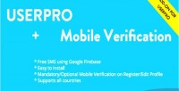 Mobile free verification userpro for addon