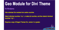 Module geographic theme divi for