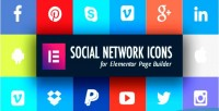 Network social icons builder for page elementor