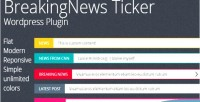 News breaking plugin wordpress ticker