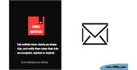 Notifications email adpress addon