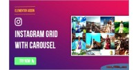 Page elementor builder instagram stream social carousel with grid