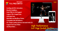 Page switch with side menu addon composer visual for page