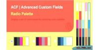 Palette acf field