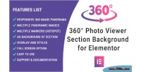 Photo 360 viewer elementor section for background