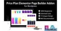 Plan pricing elementor builder page wordpress for addon