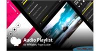 Playlist audio addons visual for plugin wordpress composer