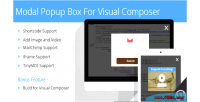 Popup modal box composer visual for
