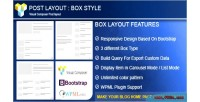 Post layout box style composer visual for