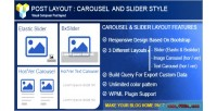 Post layout carousel slider composer visual for