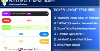 Post layout news ticker composer visual for