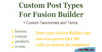 Post types & taxonomies builder fusion for post