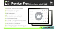 Premium privatecontent on add plans