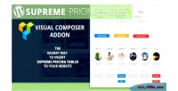 Pricing supreme tables addon composer visual
