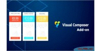 Pricing table responsive addon composer visual for