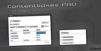 Pro contentboxes