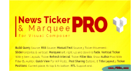 Pro news ticker marquee for visual composer display post custom woocomm rss post