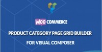 Product woocommerce category builder grid page