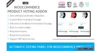 Product woocommerce voting addon