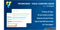 Progress advance bar composer visual for
