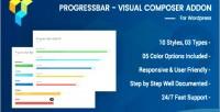 Progress advance bar composer visual for