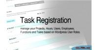 Registration task for wordpress