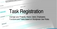 Registration task for wordpress