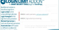 Security smart tools addon limit login