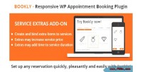Service bookly extras on add
