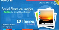 Share social on wordpress addon images