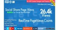 Share social page wordpress addon views