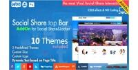 Share social top wordpress addon bar