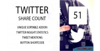 Share twitter addon sortable count