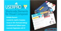 Shortcode userpro elements composer visual for