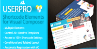 Shortcode userpro elements composer visual for