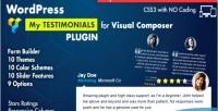 Showcase testimonials for plugin composer visual