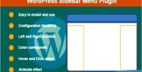 Sidebar wordpress menu plugin