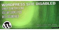 Site wordpress disabled page