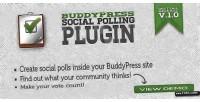 Social buddypress polling plugin