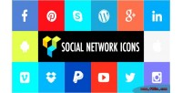 Social network icons addons for visual plugin wordpress composer