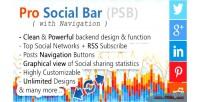 Social pro bar navigation with