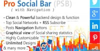 Social pro bar navigation with