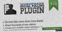 Social wordpress polling plugin