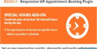 Special bookly hours on add