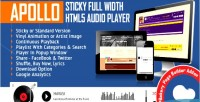 Sticky apollo full width html5 audio for player wpbakery page v formerly builder