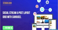 Stream social post grid layout carousel with for builder page siteorigin