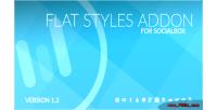 Styles flat socialbox for addon