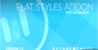 Styles flat socialbox for addon