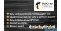 Subscribe mailchimp form extension composer visual